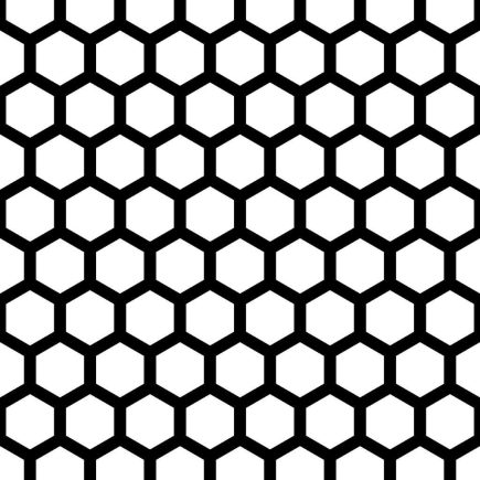 Arrow Metal perforated metal P610 - hexagon 10mm