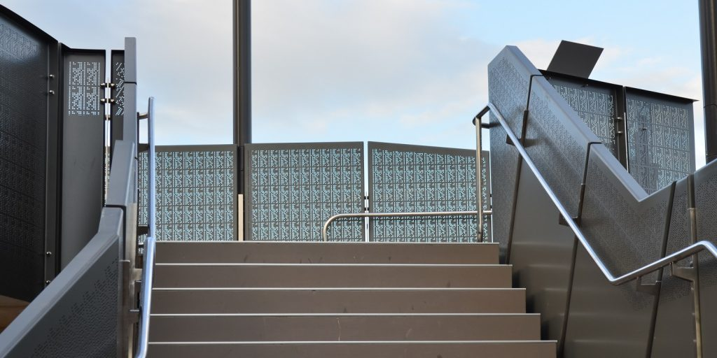 Uses of perforated metal fencing and balustrade arrow metal