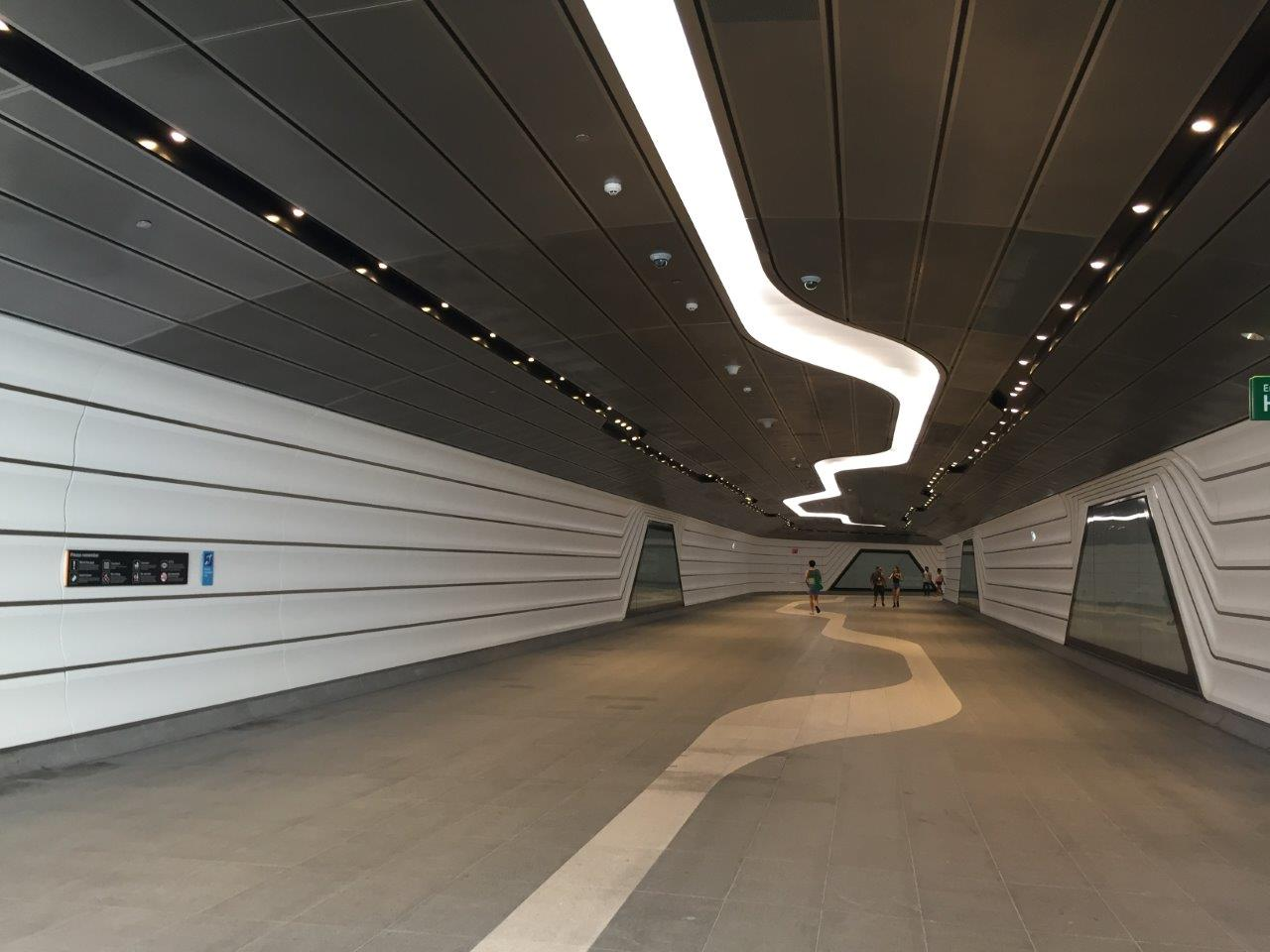 Wynyard To Barangaroo Walkway Tunnel Custom Perforated