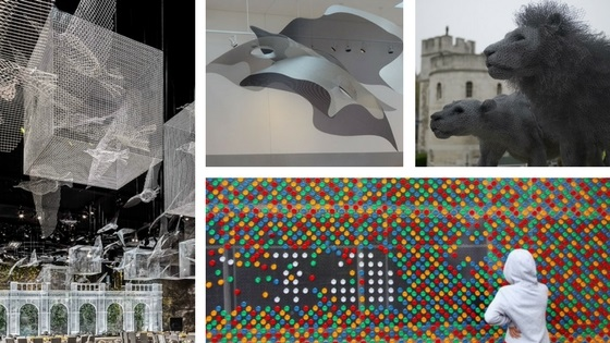 Wondrous wire mesh and perforated metal art from around the world