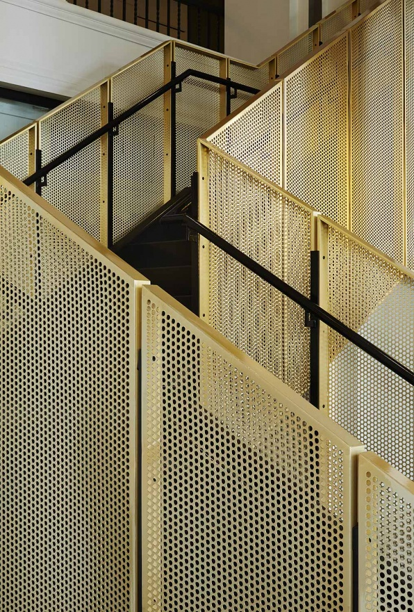 BRASS INTERIOR DESIGN - staircase in commercial building