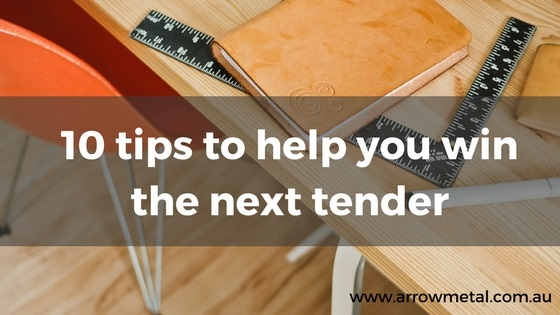 Arrow Metal expertise: How to win a tender tips