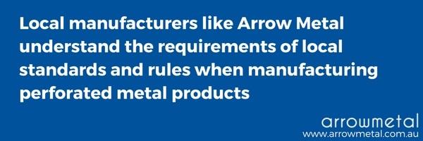 Choose an Australian perforated metal manufacturer - choose Arrow Metal