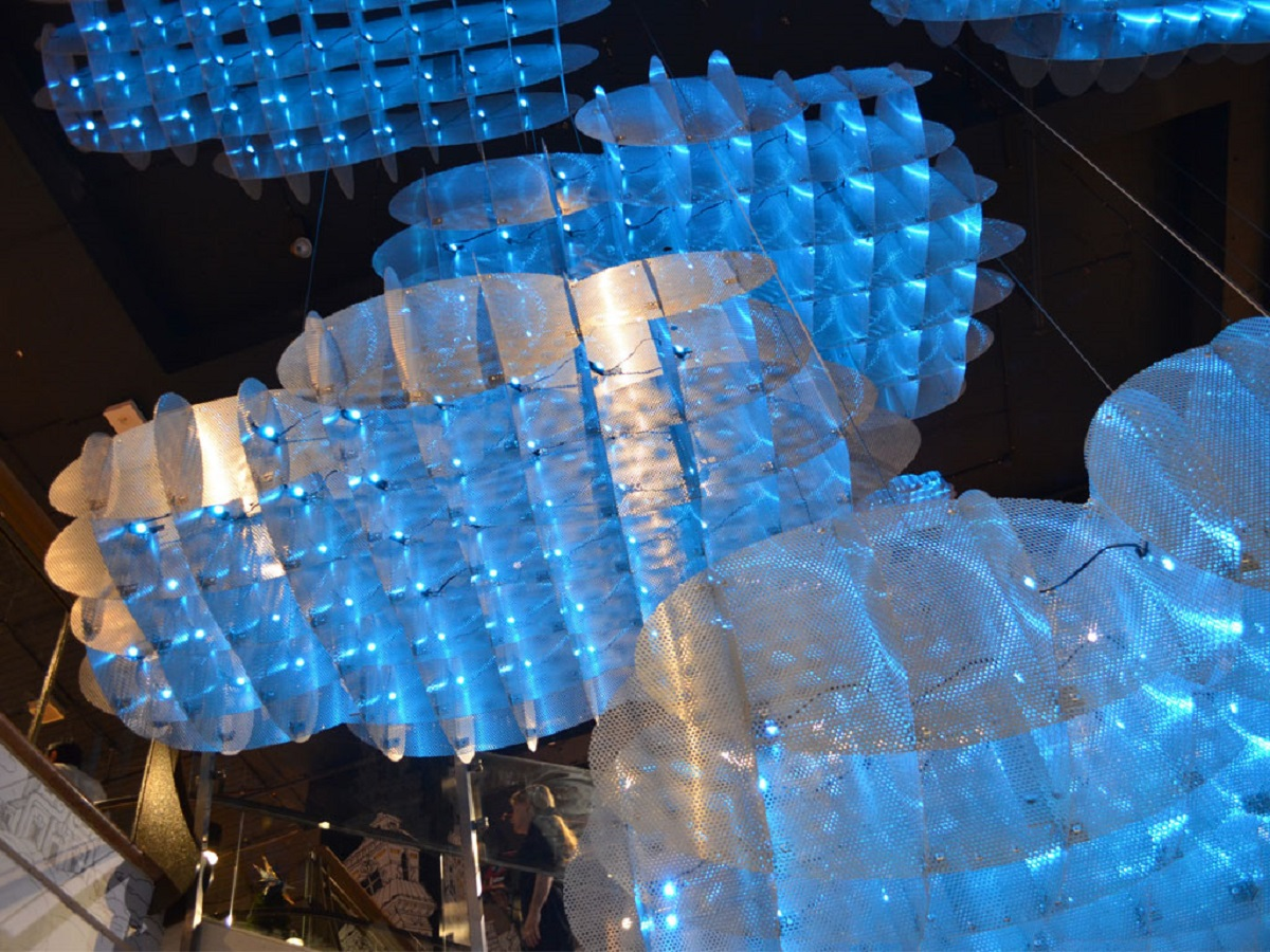 Favourite projects of 2017 - Cloud structures at Myer Sydney Giftorium
