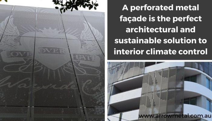 Keep building cool with perforated metal