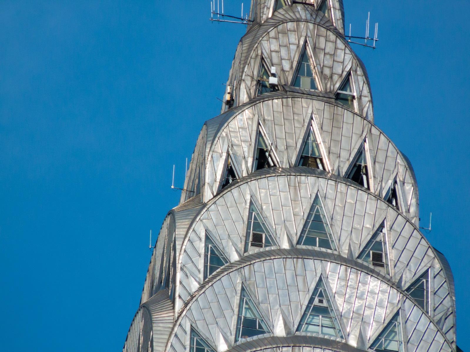 Iconic metal buildings - Chrysler building New York
