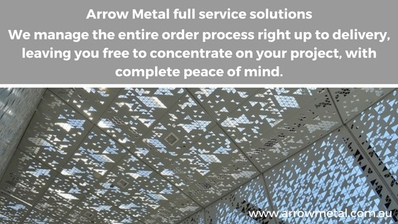 Ordering perforated metal, woven or welded wire mesh - full service solutions by Arrow Metal