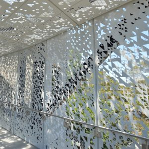 Creating personalised perforated metal