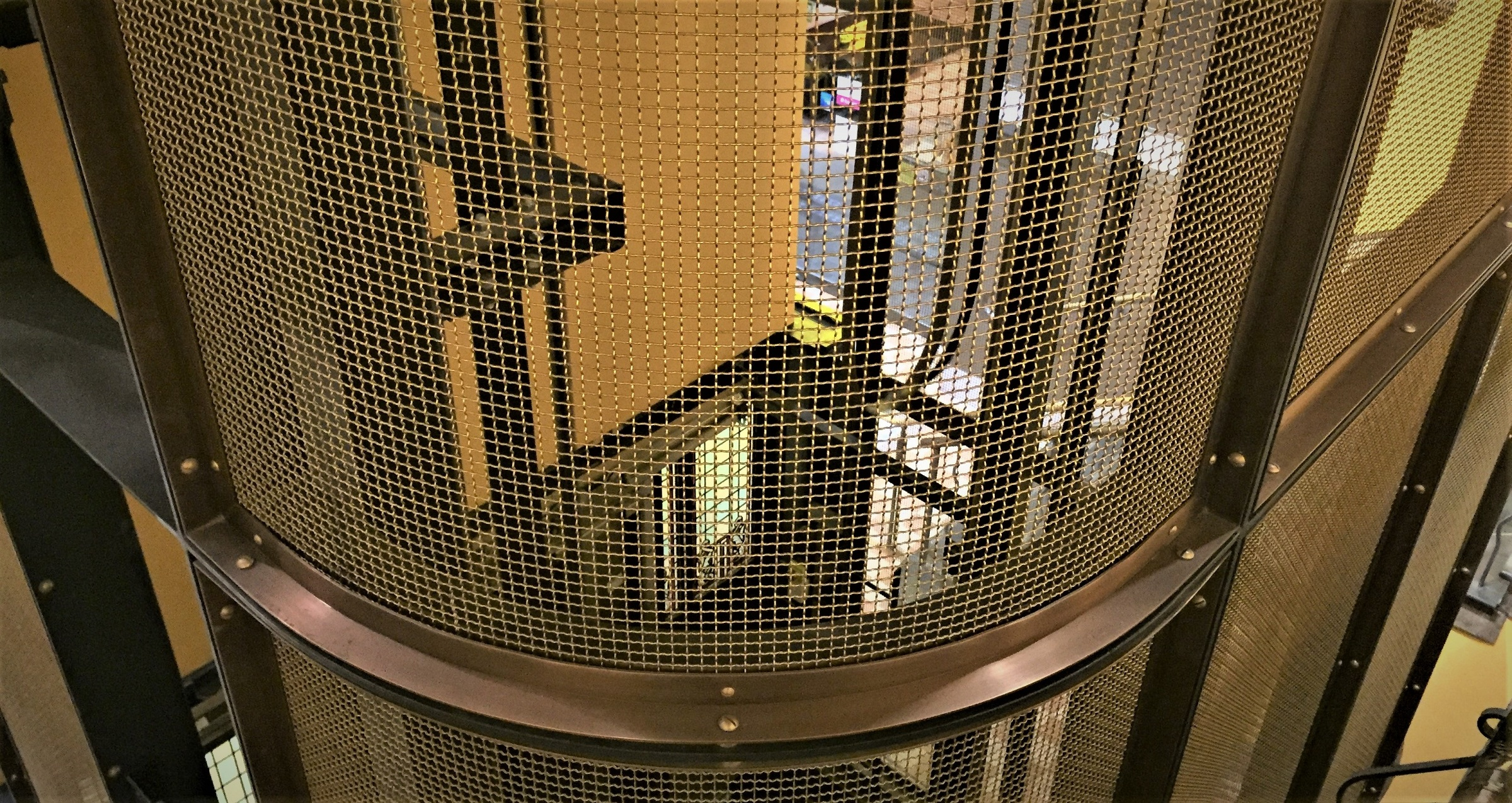 Wire mesh trends - brass wire mesh lift interiors - Arrow Metal