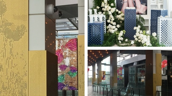 Perforated metal for retail projects