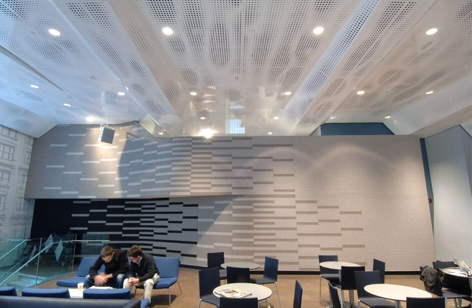 Metal Ceiling - perforated metal - Tony Stabile Student Centre