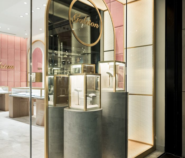 PERFORATED METAL RETAIL DISPLAY: GOLSTON JEWELLERY