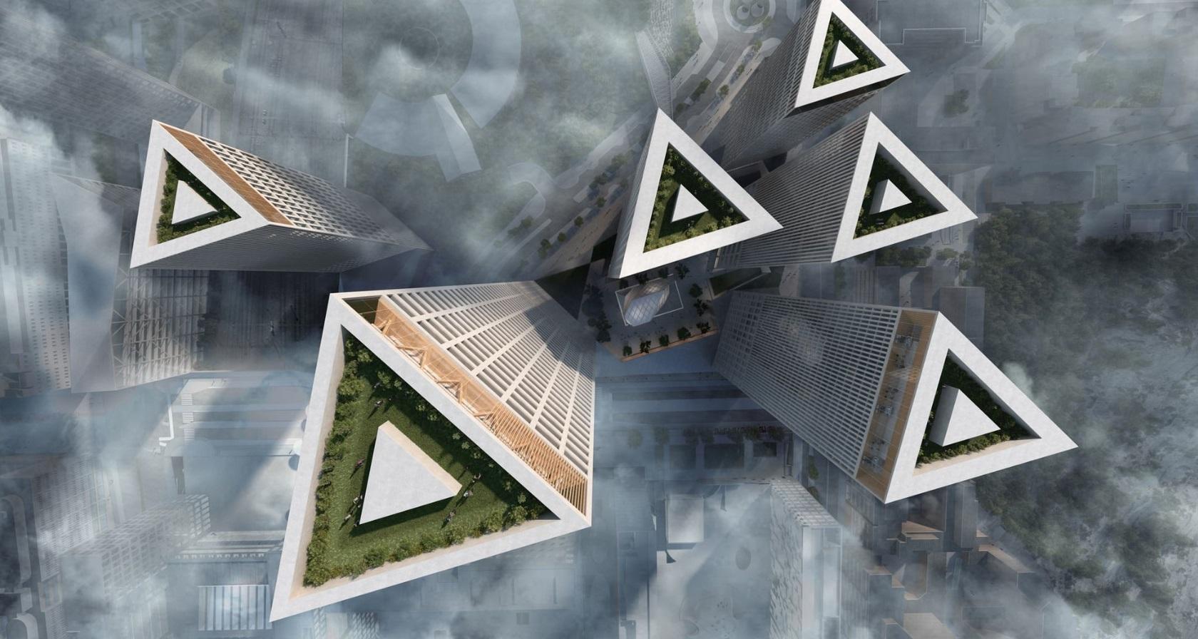 Triangle perforated metal - Lahdelma & Mahlamäki's