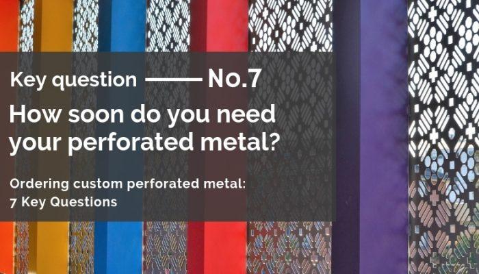Ordering custom perforated metal: 7 Key Qs