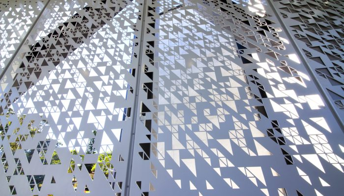 Triangle perforated metal is on point