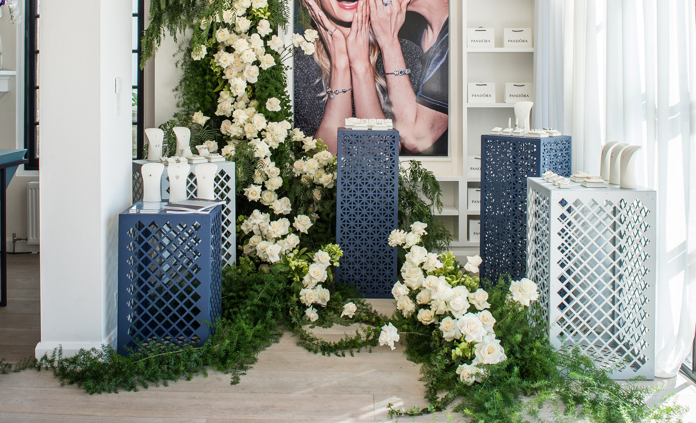 Triangle perforated metal - Pandora Launch event display