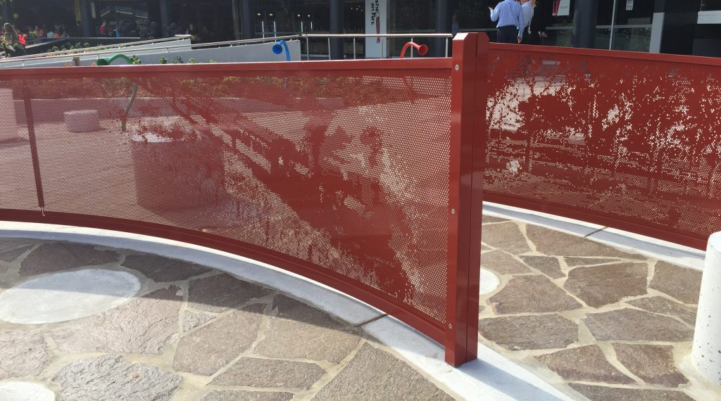 Metal Playgrounds - Arrow Metal perforated panels - Sydney