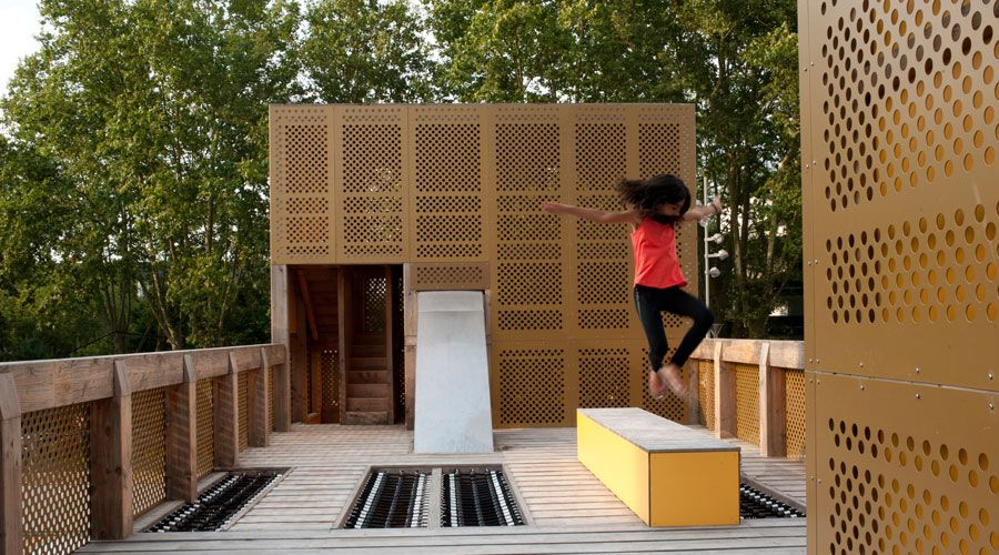 Metal Playgrounds made with metal panels
