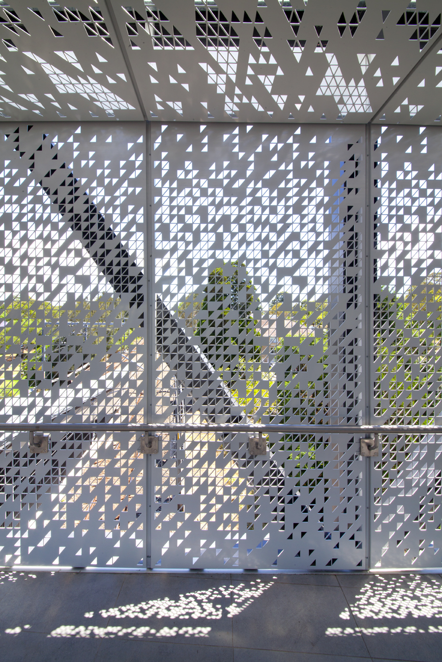 Bespoke perforated metal design - Oatley Station