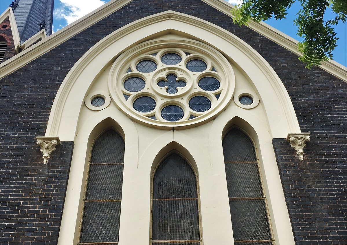 Conservation projects- Armidale Church - woven mesh by Arrow Metal