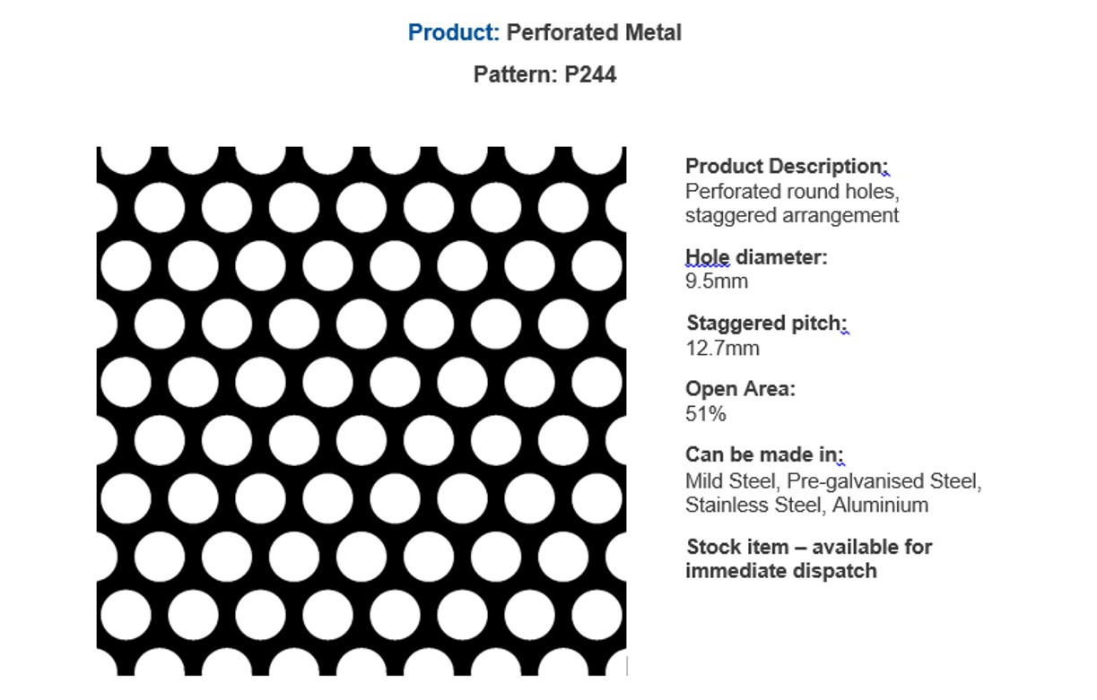 Popular perforated metal - by Arrow Metal