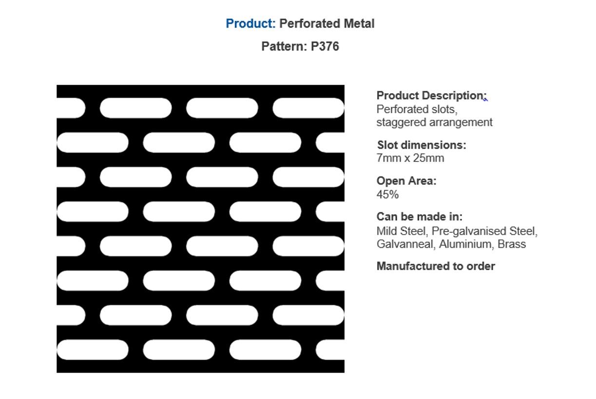 Popular perforated metal - by Arrow Metal