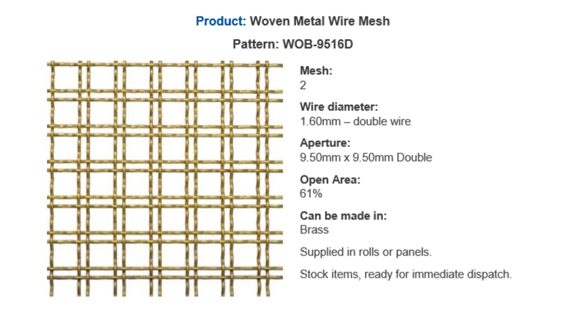 Popular perforated metal - panel by Arrow Metal