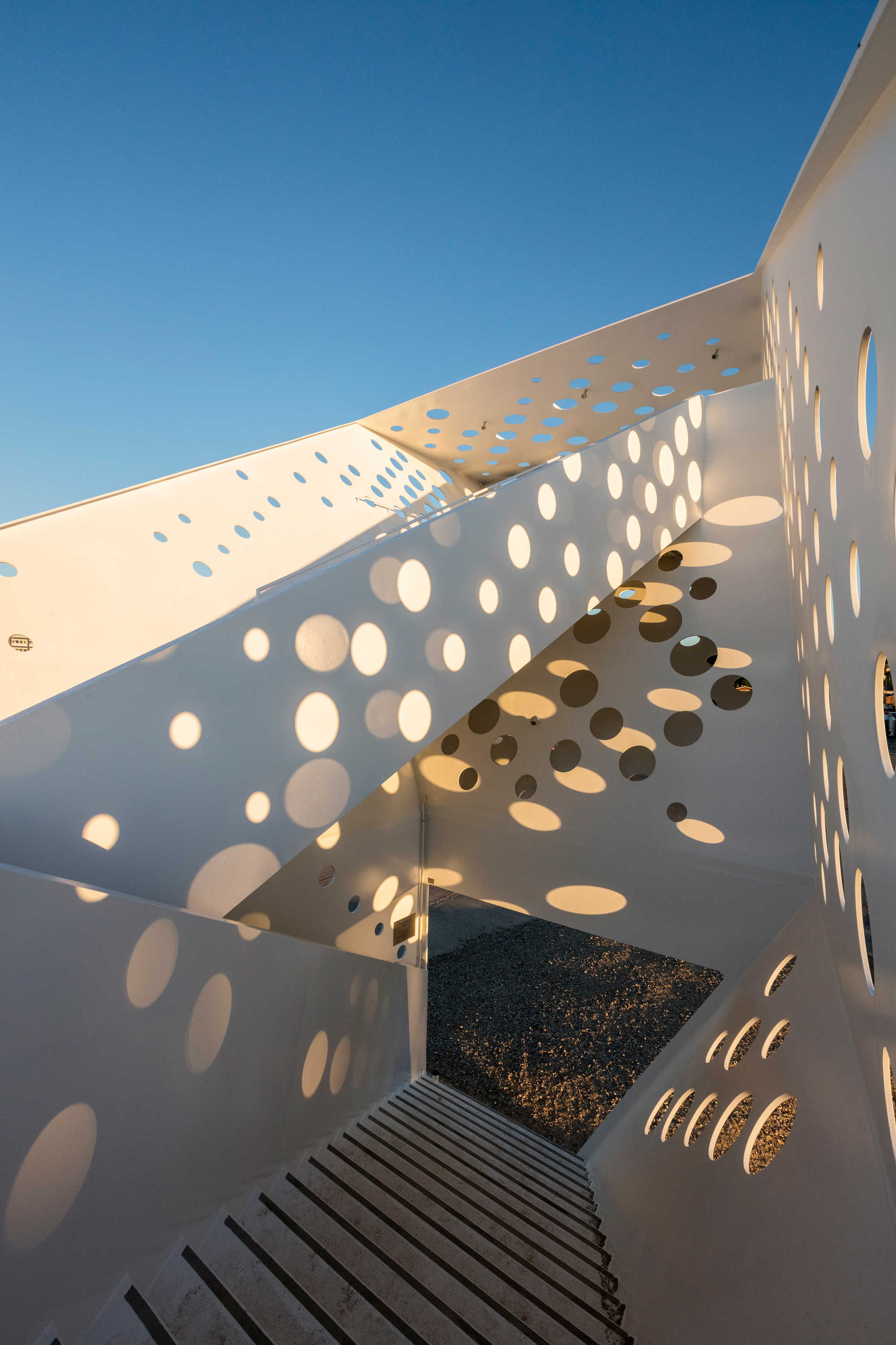 White perforated metal