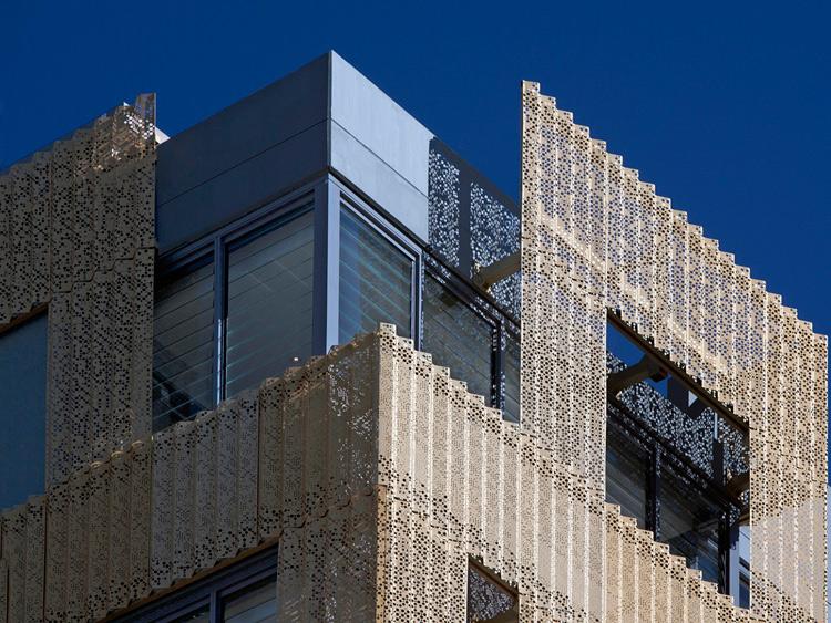 Gold perforated metal