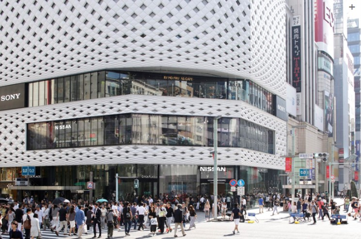 Creative facades -Ginza Place, Tokyo, by Klein Dytham Architects