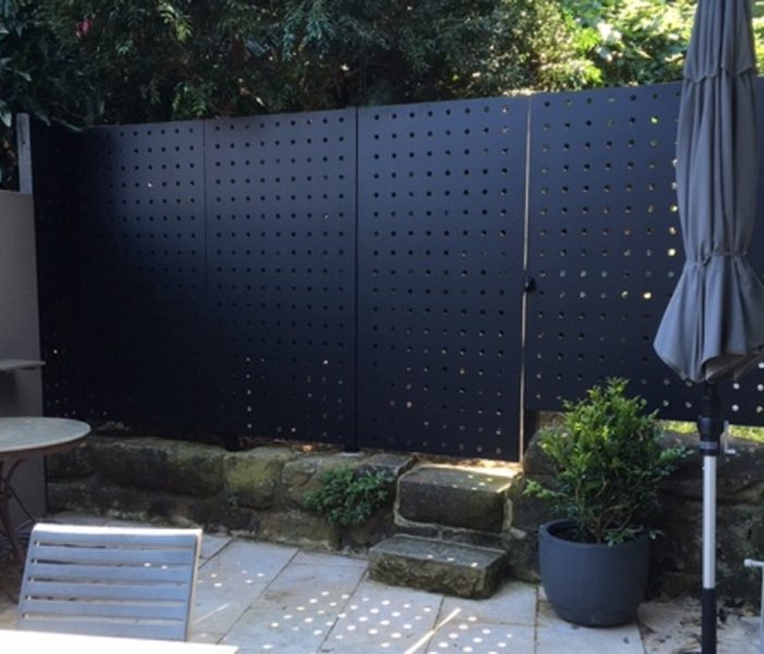 PERFORATED METAL FENCE, PADDINGTON