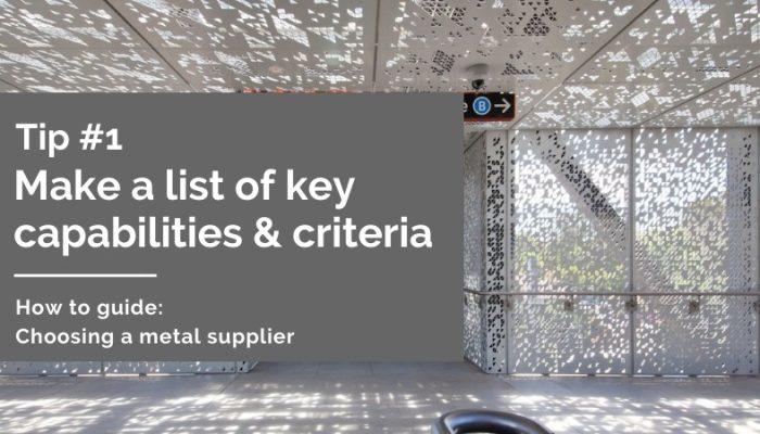 Choosing a perforated sheet metal supplier