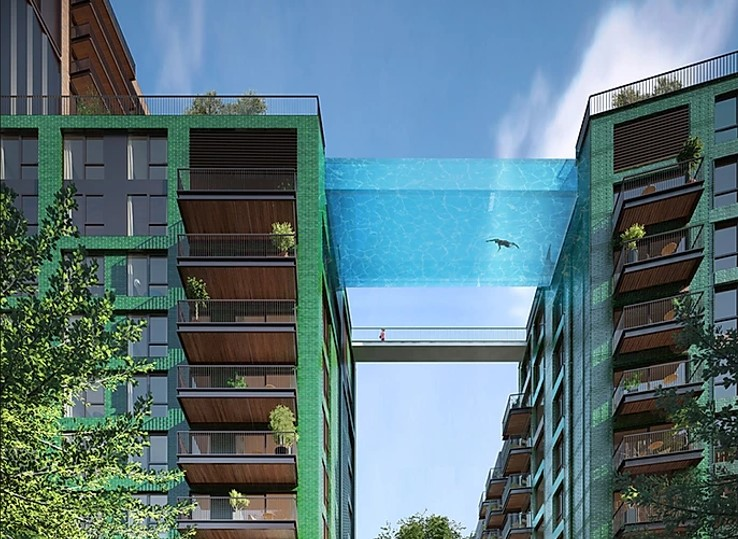 High-rise swimming pools