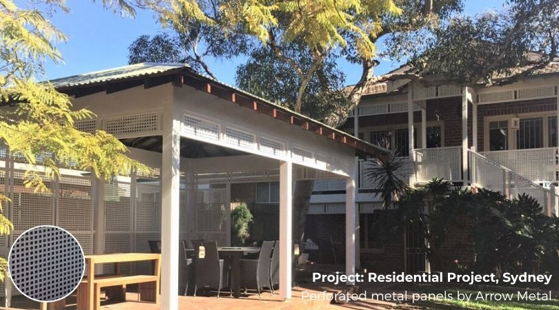 Perforated metal best sellers - residential project by Arrow Metal