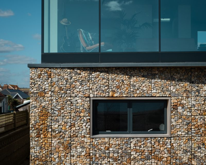 Gambion walls - Beachside House by ABIR Architects