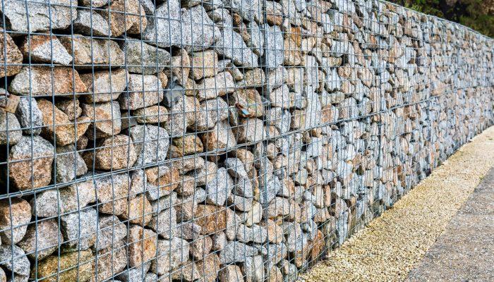 Gabion walls rock on in the trends