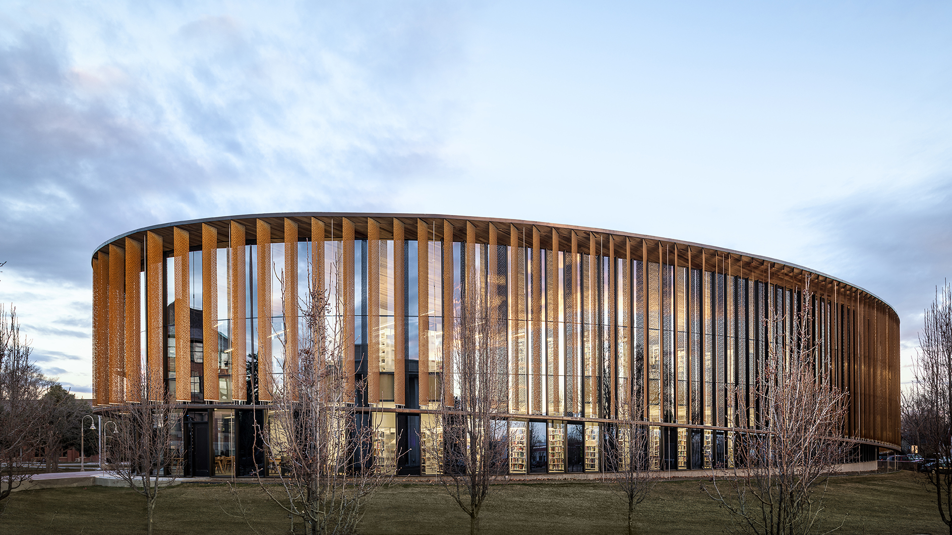 Perforated screen facades that are sun smart