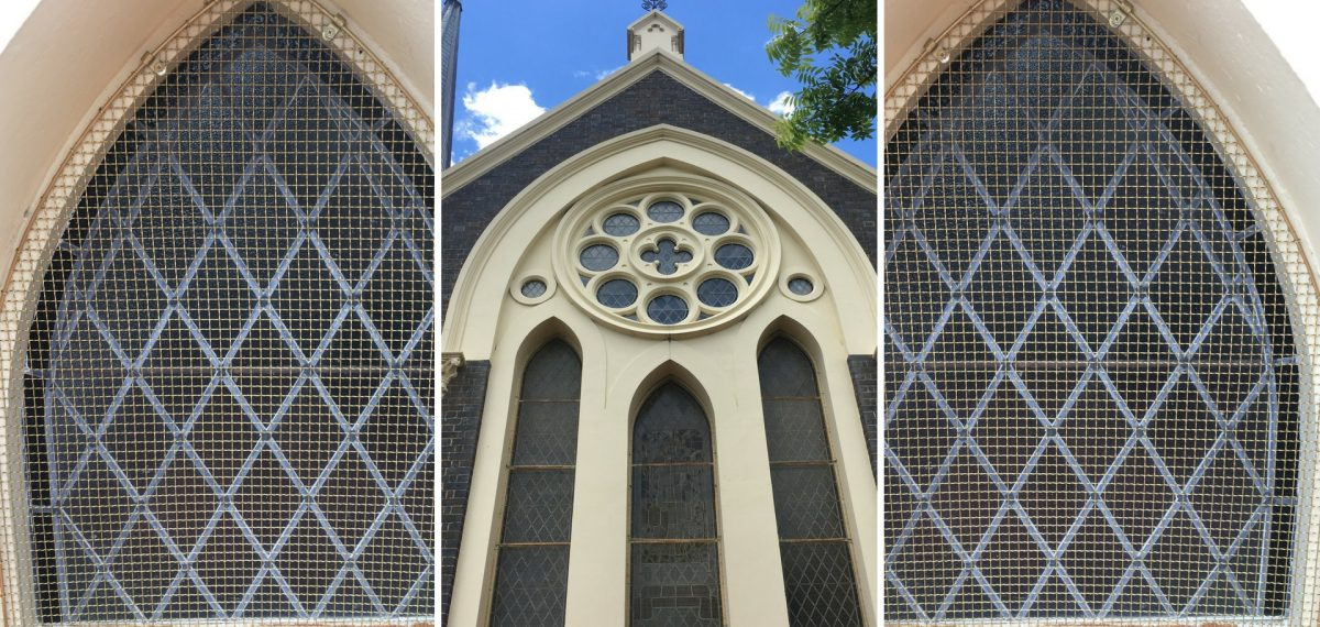 Metal mesh - Armidale church restoration project