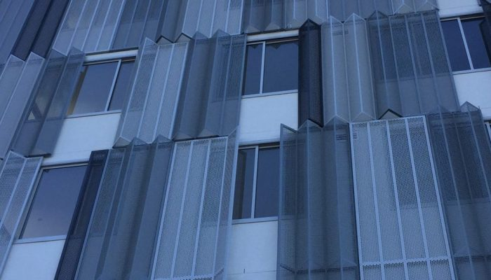 Perforated sheet metal is sheer style