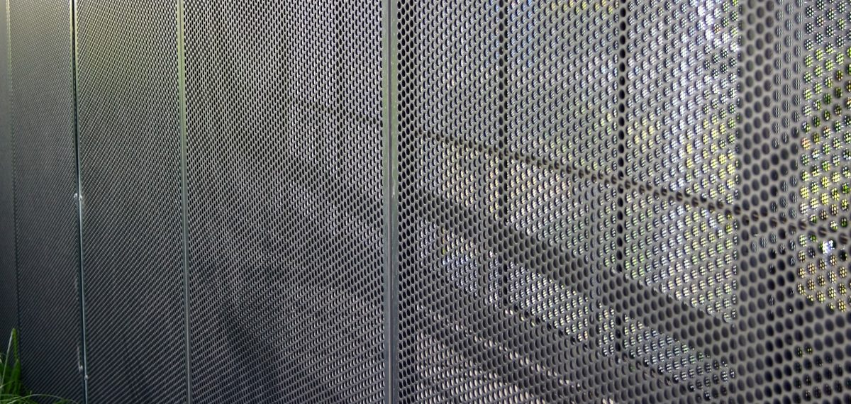 Perforated sheet by Arrow Metal - Gosford hospital sheer screen panels
