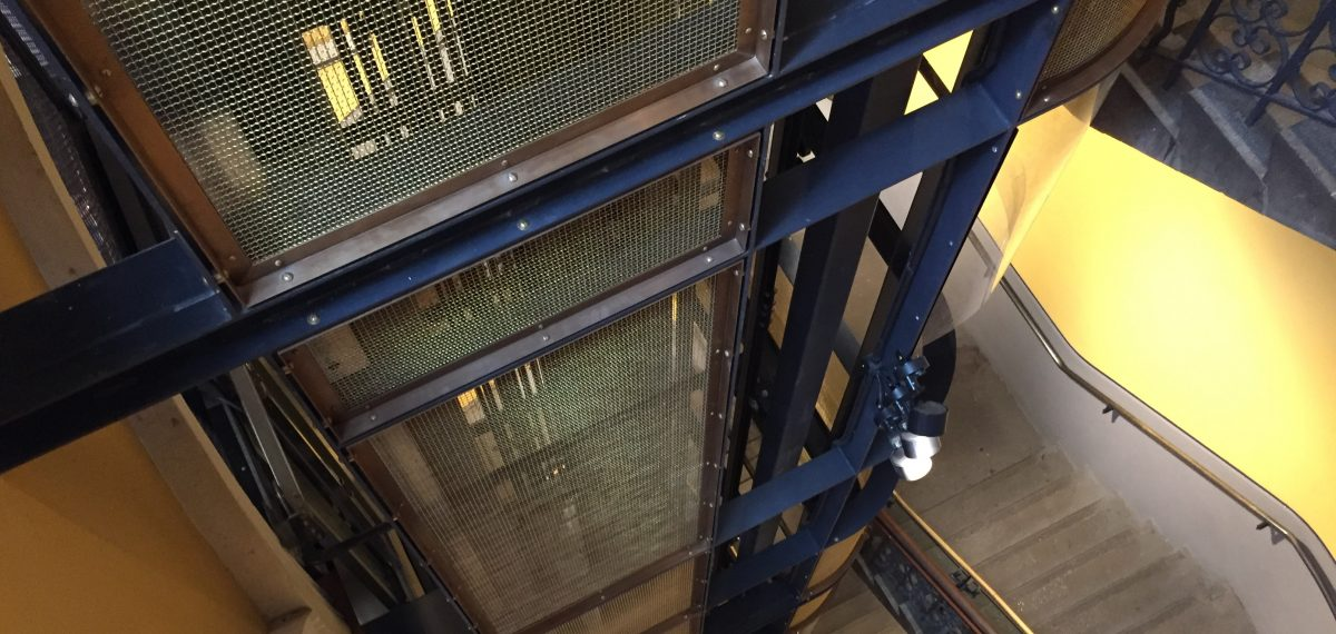 Metal mesh by Arrow Metal - QVB lift cage