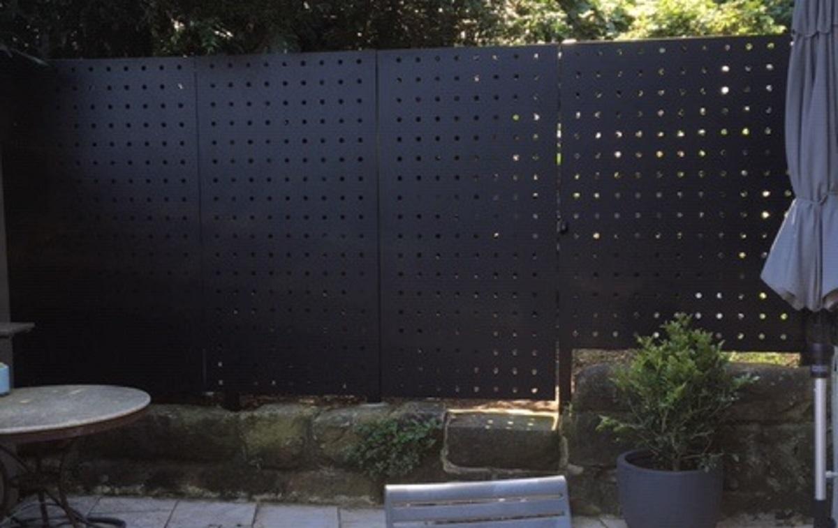 Panel fencing - use Arrow Metal perforated metal panels