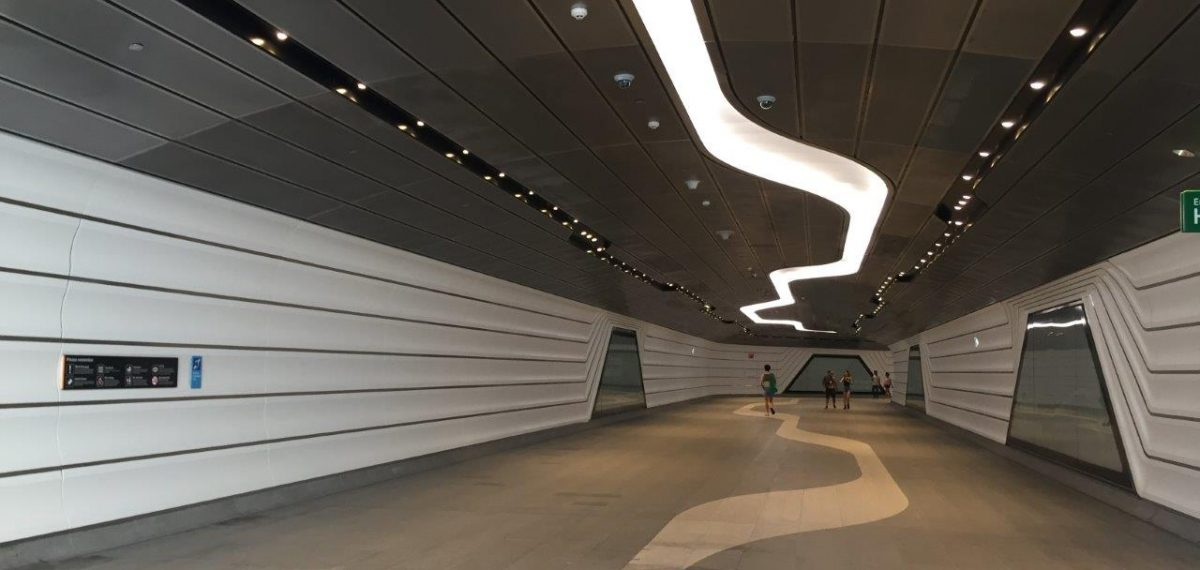 Perforated stainless sheet - Barrangarro project by Arrow Metal