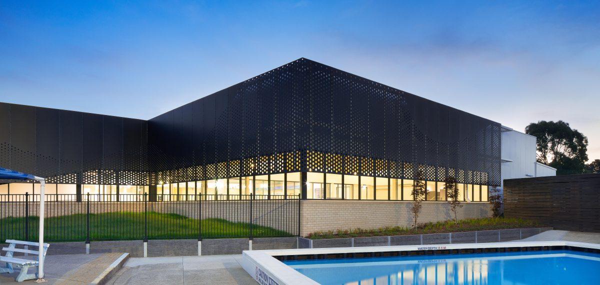 Perforated metal sheet ideas - Sunburry Swimming Pool