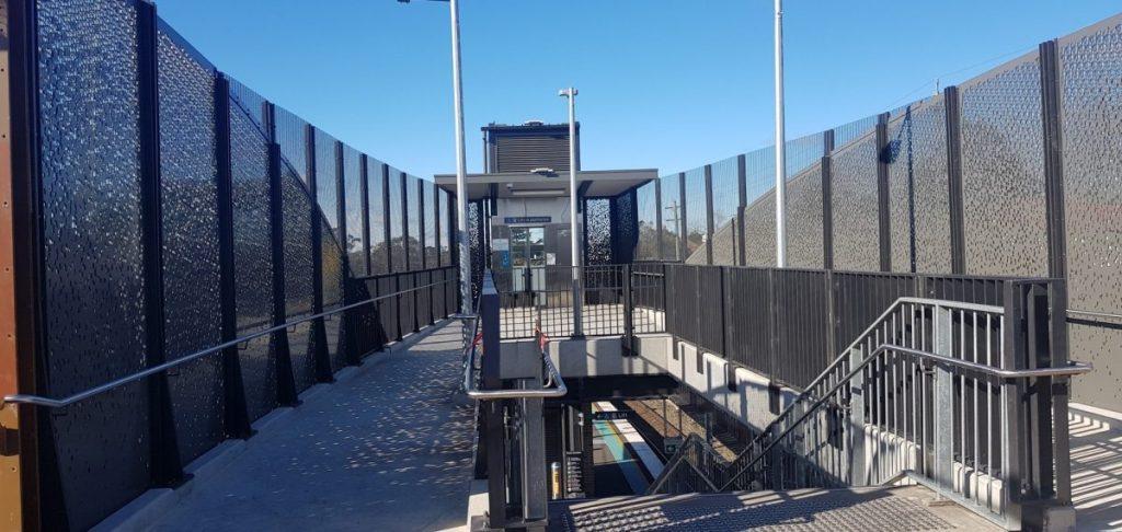 Perforated metal sheet ideas - Hazelbrook Station
