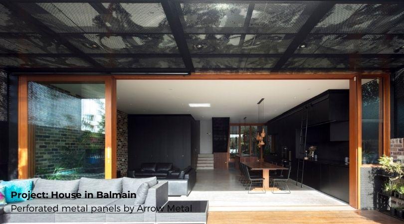 Perforated sheet ideas - House in Balmain