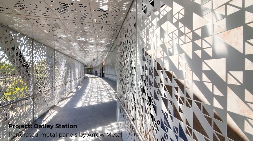 Perforated sheet ideas - Oatley Station