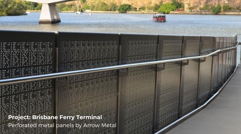 What is perforated metal used for?