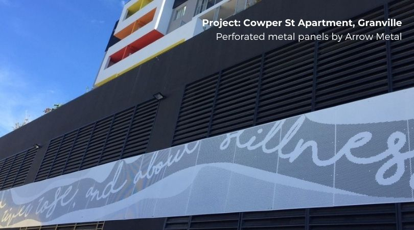 Perforated metal facade systems - Cowper St Granville project by Arrow Metal