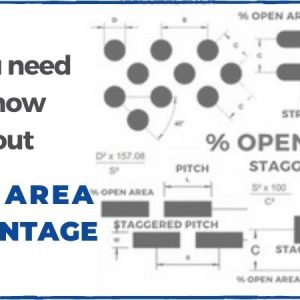 The open area of perforated metal and how to use it